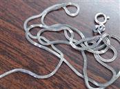 """18"""" Gold Snake Chain 14K White Gold 1.7g"""